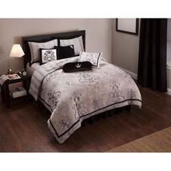 English Laundry Black 8-piece Duvet Cover Set