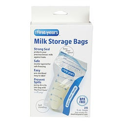The First Years Ziploc Milk Storage Bags (Pack of 25)