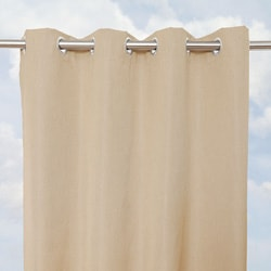 Sunbrella Bay View Heather Beige 84-inch Outdoor Curtain Panel