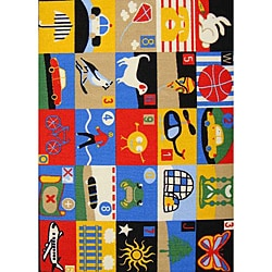 Kids' Non-Skid Fun Activity Rug (3'3 x 4'7)