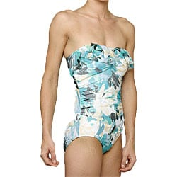 Jantzen 'Lovely Layers' 1-piece Turquoise Swimsuit