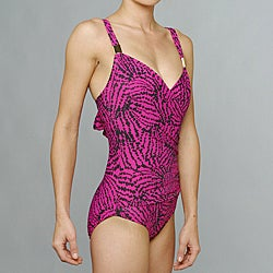 Jantzen Women's 'Out to Sea' 1-piece Fuchsia Swimsuit