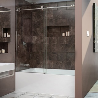 DreamLine Enigma-X 56-59 in. W x 62 in. H Frameless Sliding Tub Door