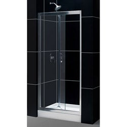 Tub To Shower Kit: Butterfly Shower Door, 36 x 36 TRIO Shower Base
