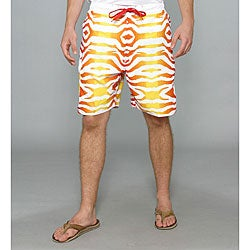 Zonal Men's 'Primative E-board' Red Zebra Swim Shorts