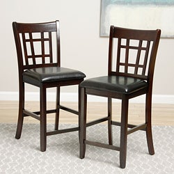 Banbury Warm Cherry Mission 24-inch Counter Stools (Set of 2)
