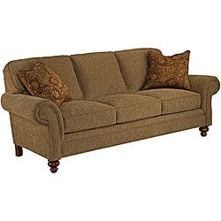 Broyhill Lara Brown Sofa and Accent Pillows