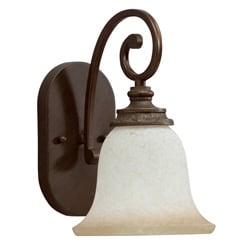 Transitional 1-light Golden Bronze Wall Sconce 