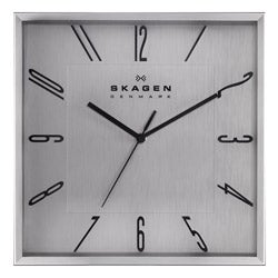 Skagen Stainless Steel 12 inch Wall Clock