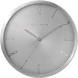 Skagen 12-inch Stainless Steel Wall Clock
