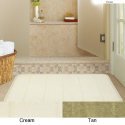 Microfiber Memory Foam 19.5 x 36 Bath Mat (Set of 2)