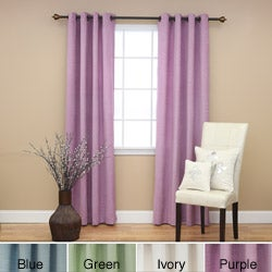 Shimmery Chenille Grommet 84 inch Curtain Pair