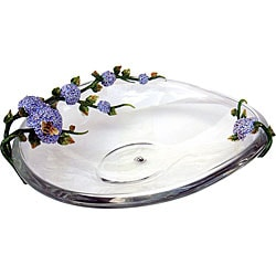 Cristiani Limited Edition Flowers and Bees Crystal Bowl