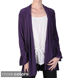 Tressa Designs Women's Pleated Trim Long Sleeve Jacket