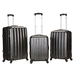 Rockland Santa Fe Lightweight Carbon Metallic 3-piece Hardside Spinner Upright Luggage Set
