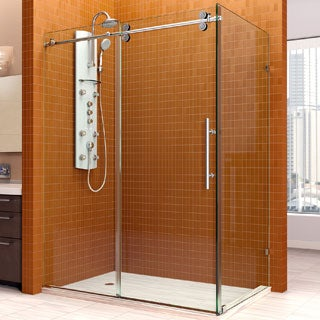 DreamLine Enigma 36x60.5x79-inch Fully Frameless Sliding Shower Enclosure