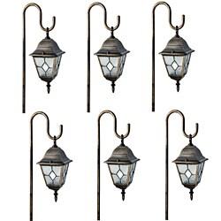 Paradise Garden Bronze/ Diamond Glass Path Lights (Set of 6)