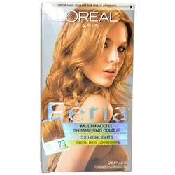 loreal feria dark golden blonde shimmering hair color