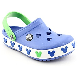 Crocs Boy's Crocband Mickey II Kids Blue Casual Shoes