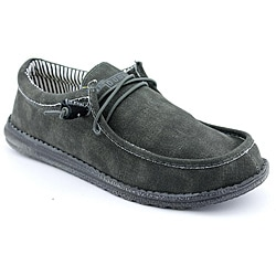 Hey Dude Men's Wally Black Casual Shoes