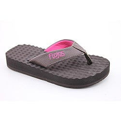 Flojos Girl's Blair Brown Sandals