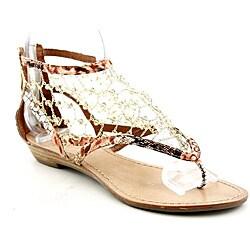 Ziginy Women's Klive Brown Sandals