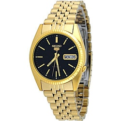 Seiko Men's Gold-Tone Automatic Bracelet Watch