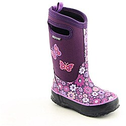 Bogs Girl's Classic Daisy Purple Boots (Size 11)