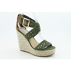 Steve Madden Women's Magestee Green Sandals