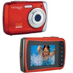 VistaQuest VQ-9100 12MP Red Waterproof Digital Camera