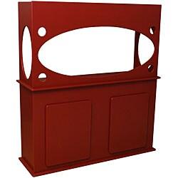 Window View Red 55-gallon Aquarium Stand