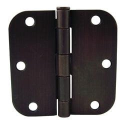 GlideRite 3.5-inch x 5/8-inch Radius Oil Rubbed Bronze Door Hinges (Pack of 12)