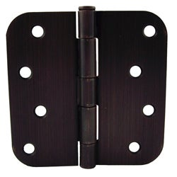 GlideRite 4-inch x 5/8-inch Radius Oil Rubbed Bronze Door Hinges (Pack of 12)