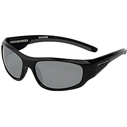 Body Glove Men's 'Vapor 12' Black/Smoke Polarized Mirrored Sunglasses