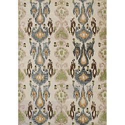 Alliyah Handmade Parrot Green New Zealand Blend Wool Rug (8x10)