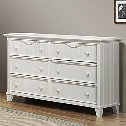 Alderson Cottage White 6-drawer Beadboard Dresser