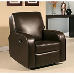 Abbyson Living Hartford Dark Brown Bonded Leather Recliner