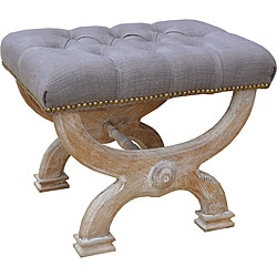 Cleopatra Solid White Oak Bench