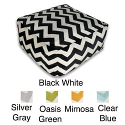 Chevron Microplush Pouf