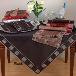 Saro Embroidered Table Runner