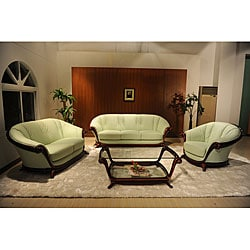 Xenia 3-piece Top Grain Leather Sofa Set