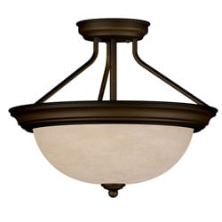 Triomphe Semi-Flush 2 Bulb Light Fixture