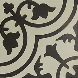 Granada Tile Echo Collection Black and White Sample Cement Tile