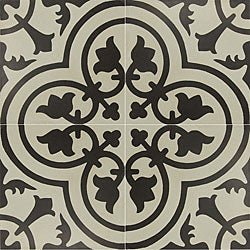 Granada Tile Echo Collection Black and White Cement Tiles (Case of 50)