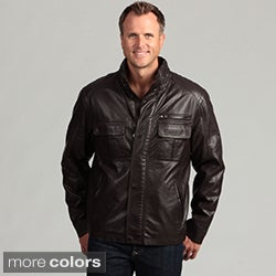 Izod Men's Faux Leather Jacket