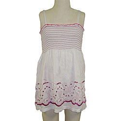 Lisabelle Girls' Smocked Cotton Cover-Up