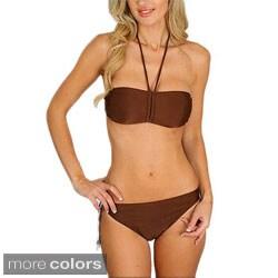 Stanzino Women's Beaded Bandeau Bikini