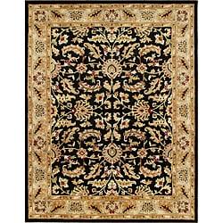 Alliyah Handmade Black New Zealand Blend Wool Ru (5' x 8')