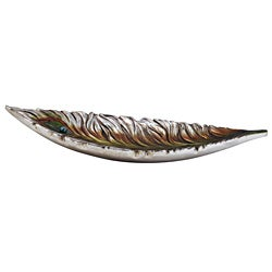 Peacock 25-inch Decorative Bowl
