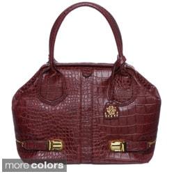 Jessica Simpson Roxy Frame Croco-embossed Satchel Bag